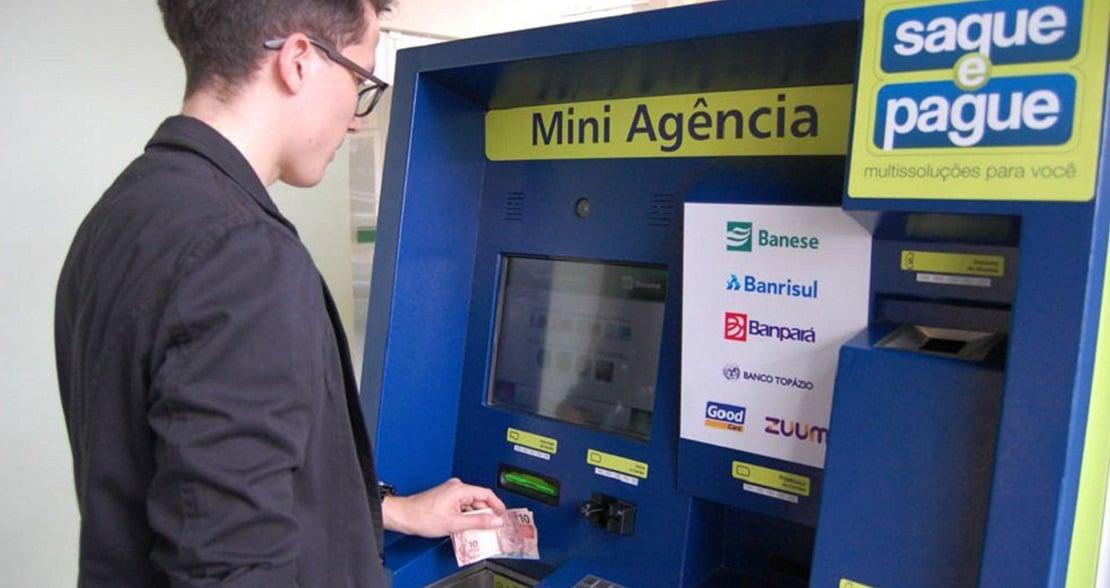 Saque e Pague premia clientes que usarem seus mais de 1,6 mil ATMs