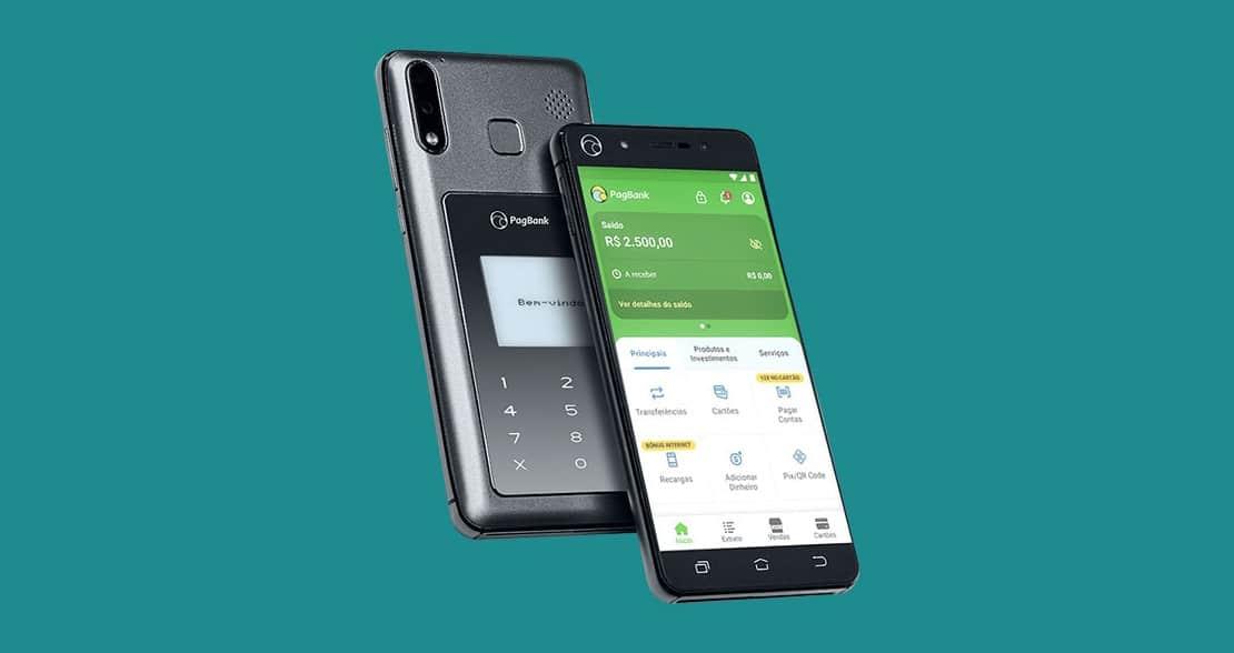 PagSeguro PagBank lança smartphone três em um